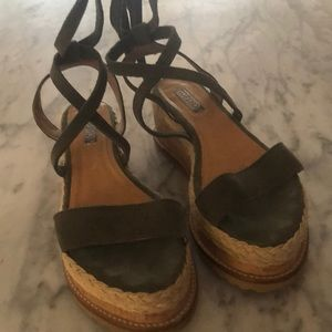 Top Shop - Suede - ankle tie - sandal